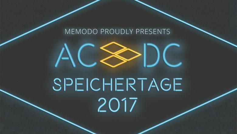 Memodo Speichertage 2017 - Eilnladung und Anmeldung
