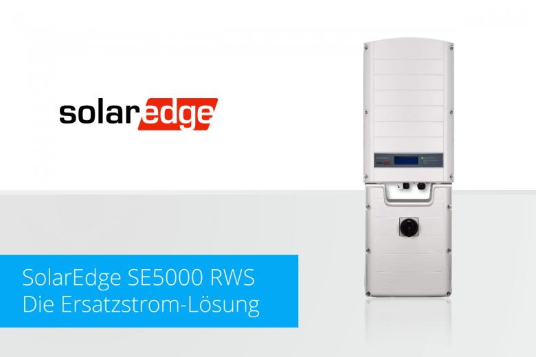 Solaredge Se5000 RWS - Die Ersatzstrom-Lösung