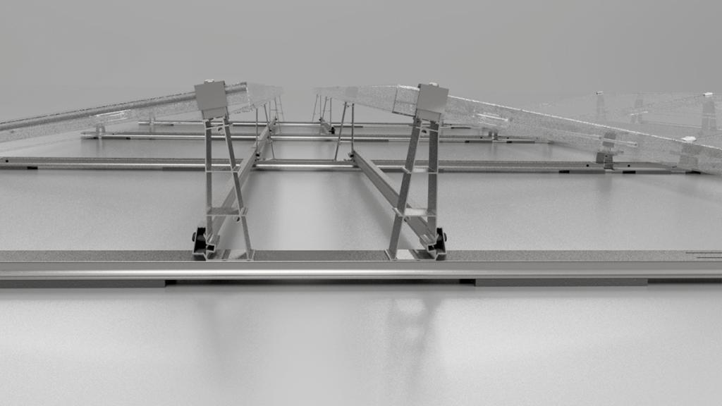 Flachdach-Montagesystem PMT EVO 2.0 Aufbau