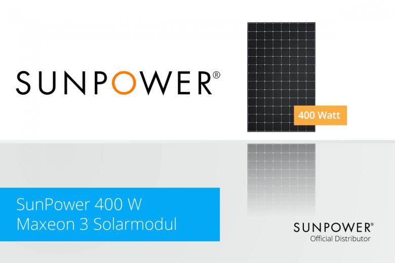 400 Watt Solarmodul von SunPower