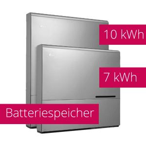 Batteriespeicher mit 7 kWh und 10 kWh