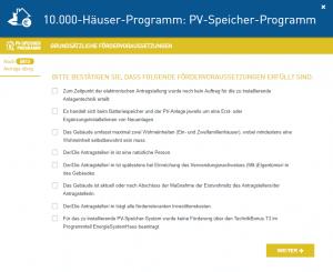 PV-Speicher Programm online beantragen