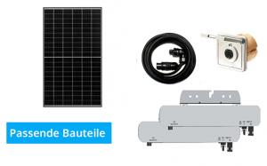 Passende Bauteile für eine Mini-Solaranlage