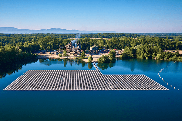 Floating-PV-Anlage bei Renchen/Baden