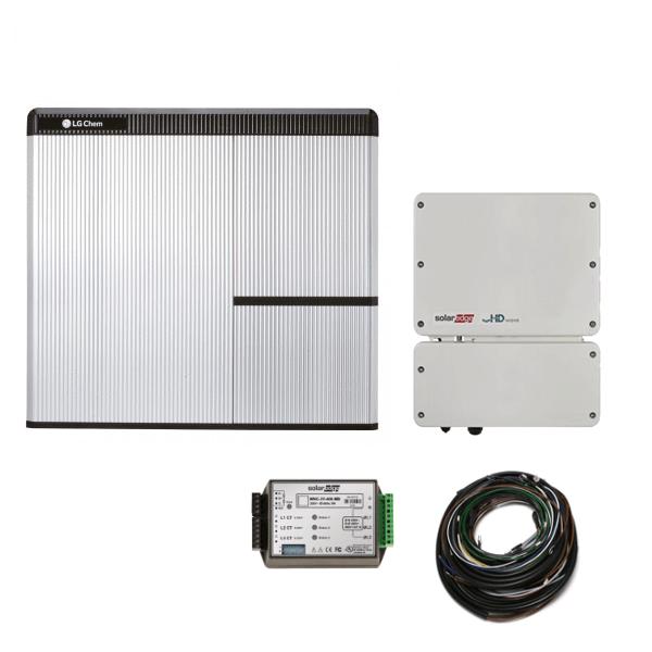 LG Chem RESU 7H & jednofázový střídač SE5000H-O4 SolarEdge StorEdge