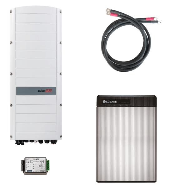 LG Chem RESU 6.5 s třífázovým střídačem SolarEdge StorEdge SE10K