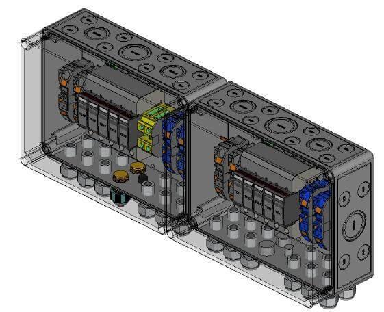 Phoenix Contact Überspannungsschutz DC, Typ II, 4 MPP, Klemmen