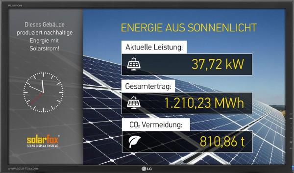 """Solarfox Solar-Anzeigedisplay SF-100, 32"""""""