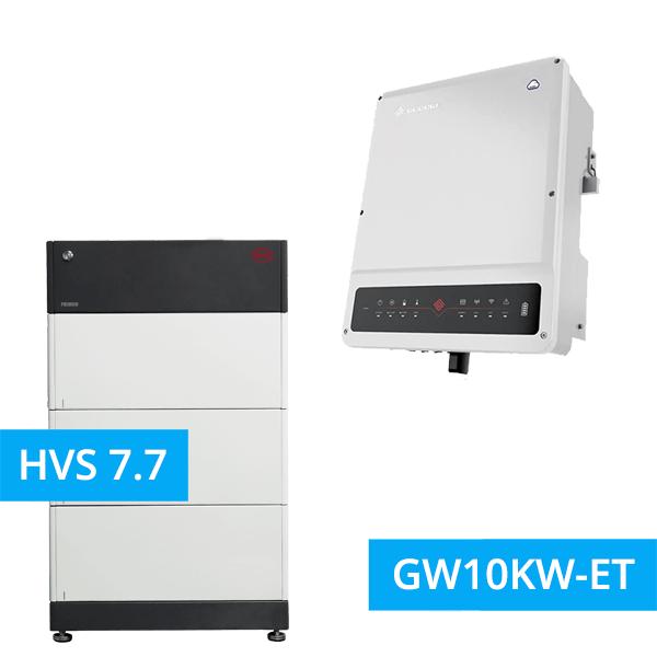 BYD Battery-Box Premium HVS 7.7 Hochvolt mit GoodWe Hybrid HV GW10KW-ET