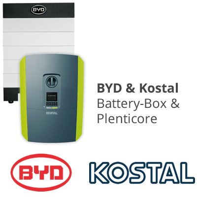 Solar batter package:  BYD B-Box and Kostal