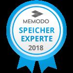 Auszeichnung Speicherexperte 2018 - Memodo Photovoltaik-Grosshandel und PV-Shop
