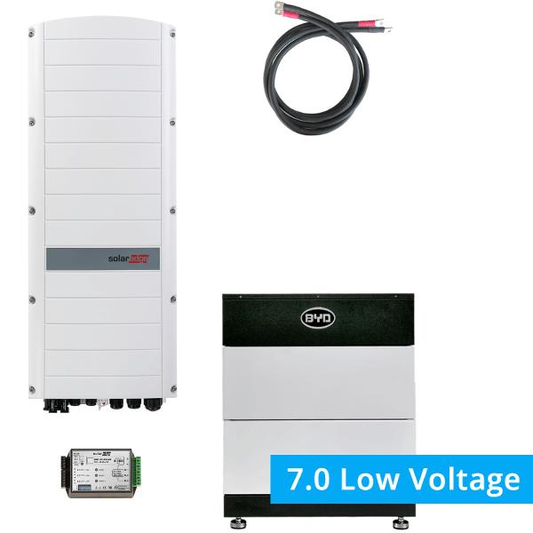 BYD Battery-Box LV 7.0 mit SolarEdge StorEdge Dreiphasen-Wechselrichter SE10K