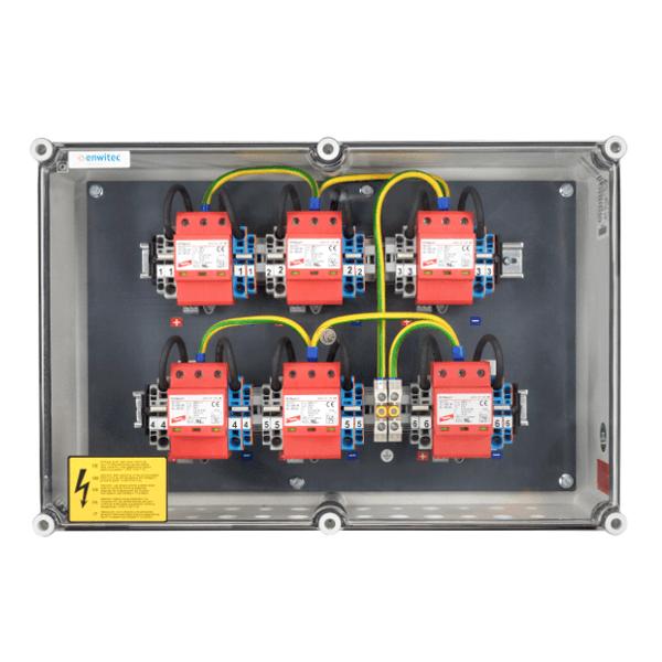 enwitec overvoltage protection DC types I+II, 6 MPPT, terminals