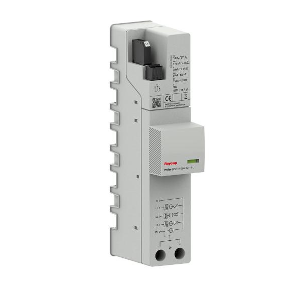 Raycap AC overvoltage protection busbar types I+II TN-S/ TT