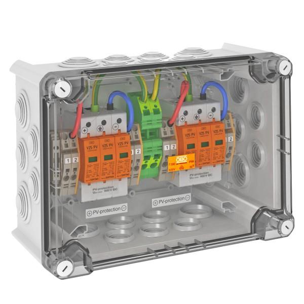 OBO přepěťová skříň DC typ I+II, 2 MPP, svorky