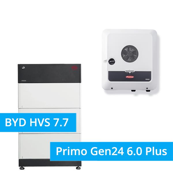BYD Battery-Box Premium HVS 7.7 Hochvolt mit Fronius Primo Gen24 6.0 Plus