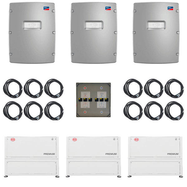 SMA 3-Phasen Paket SI 8.0 & BYD LVL 46 kWh