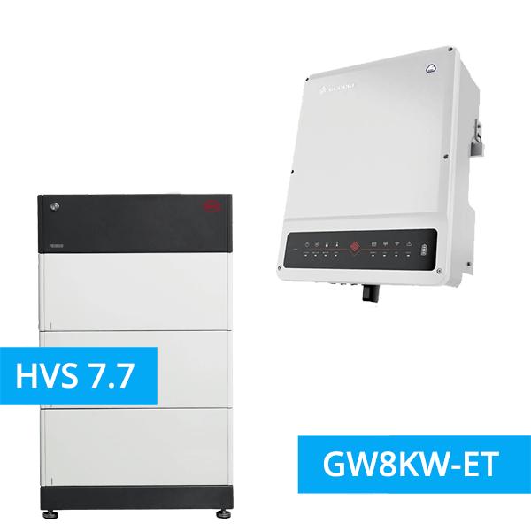 BYD Battery-Box Premium HVS 7.7 Hochvolt mit GoodWe Hybrid HV GW8KW-ET