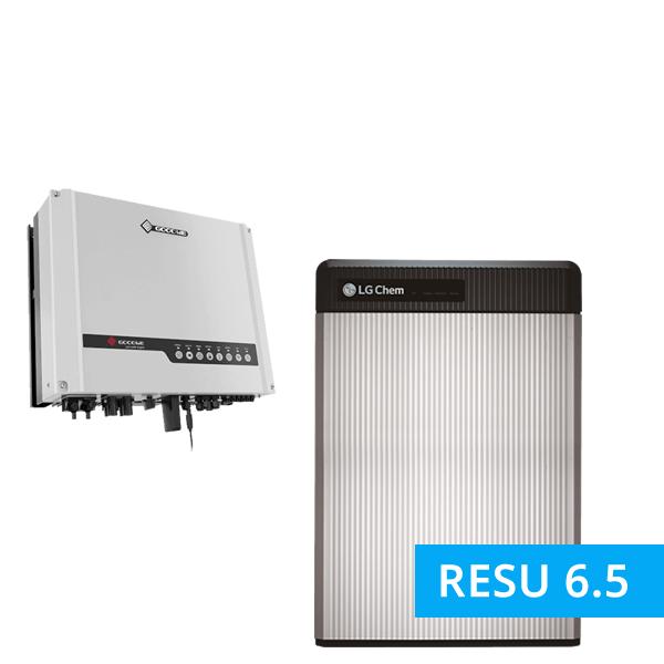 LG Chem Resu 6.5 mit GoodWe Hybrid LV GW5048D-ES