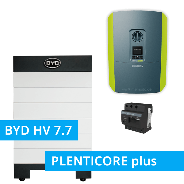 BYD Battery-Box H 7.7 Hochvolt mit KOSTAL Plenticore plus 10