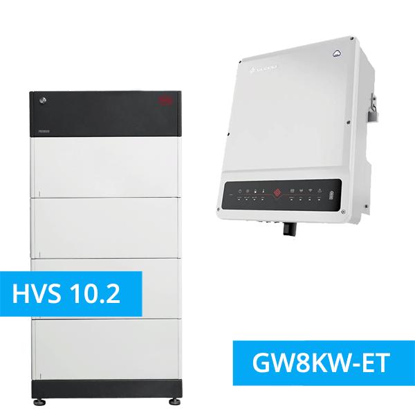 BYD Battery-Box Premium HVS 10.2 Hochvolt mit GoodWe Hybrid HV GW8KW-ET