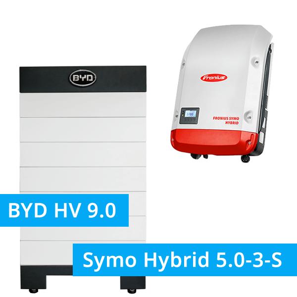 BYD Battery-Box H 9.0 Hochvolt mit Fronius Symo Hybrid 5.0-3-S