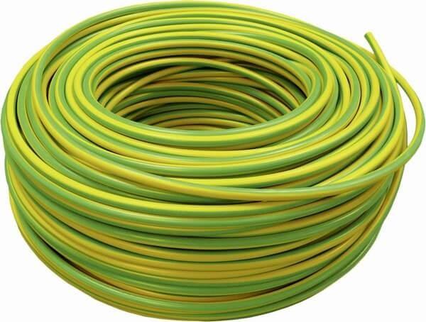 Aderleitung H07V-R 16 mm², grün-gelb, 100m Bund, starr