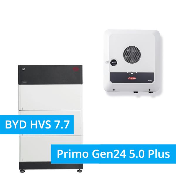 BYD Battery-Box Premium HVS 7.7 Hochvolt mit Fronius Primo Gen24 5.0 Plus