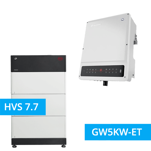 BYD Battery-Box Premium HVS 7.7 Hochvolt mit GoodWe Hybrid HV GW5KW-ET