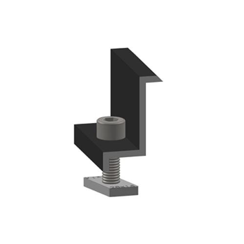 Krajní úchytka Alumero 32 černá předmontovaná
