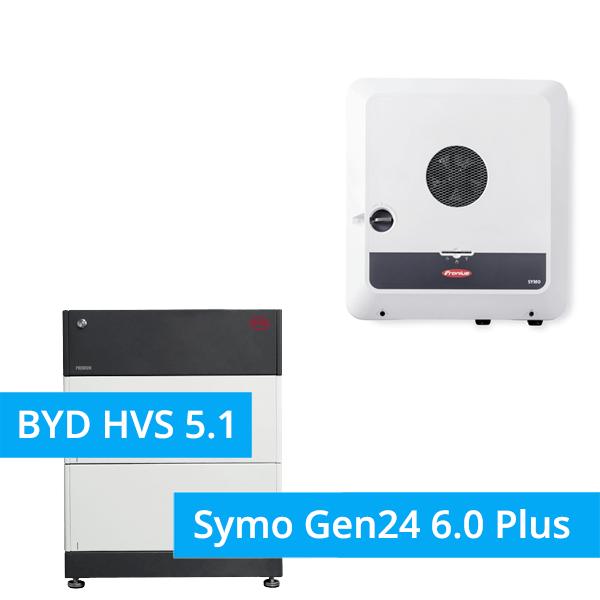 BYD Battery-Box Premium HVS 5.1 Hochvolt mit Fronius Primo Gen24 6.0 Plus