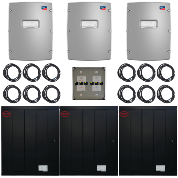 BYD Battery-Box Pro 41.4 mit 3 x SMA SI 8.0H-13 Paket