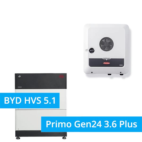 BYD Battery-Box Premium HVS 5.1 Hochvolt mit Fronius Primo Gen24 3.6 Plus