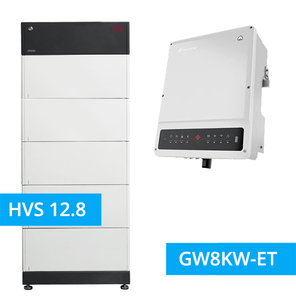 BYD Battery-Box Premium HVS 12.8 Hochvolt mit GoodWe Hybrid HV GW8KW-ET