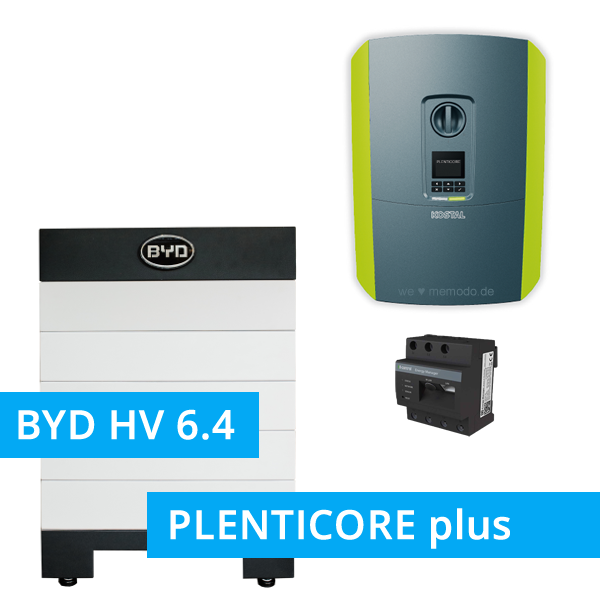 BYD Battery-Box H 6.4 Hochvolt mit KOSTAL Plenticore plus 10