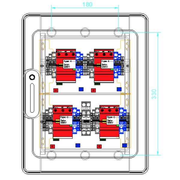 enwitec protezione da sovratensione DC Tipo II, 4 MPPT, terminali