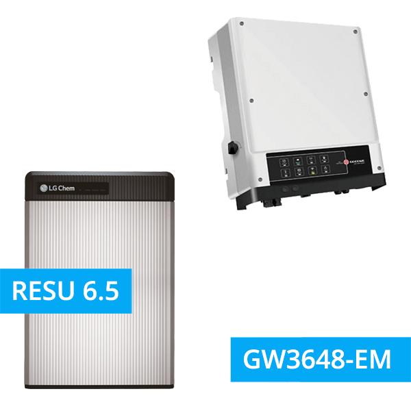 LG Chem Resu 6.5 mit GoodWe Hybrid LV GW3648-EM / 3 Phase Smartmeter