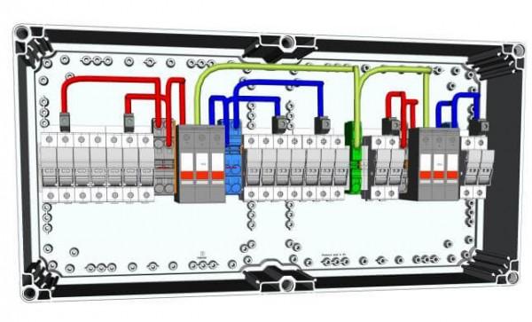 HISbox DC Combiner 2MPPT, 3 String, 15A