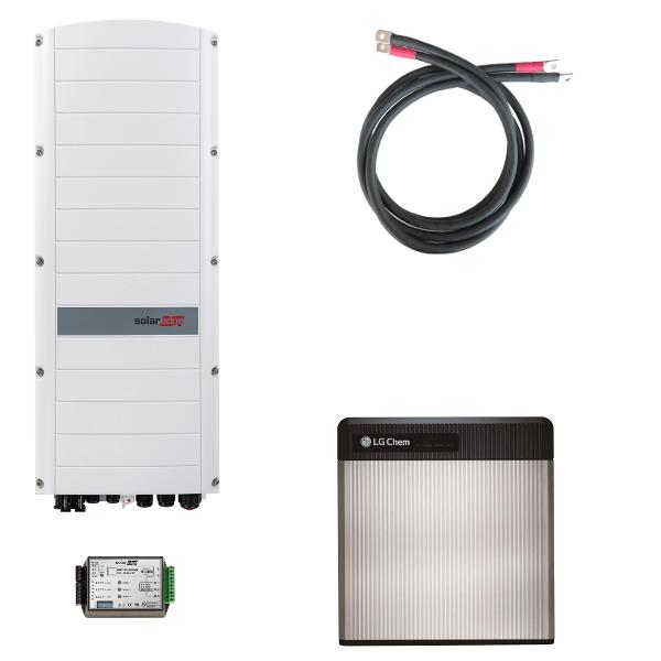 LG Chem RESU 10 s třífázovým střídačem SolarEdge StorEdge SE10K