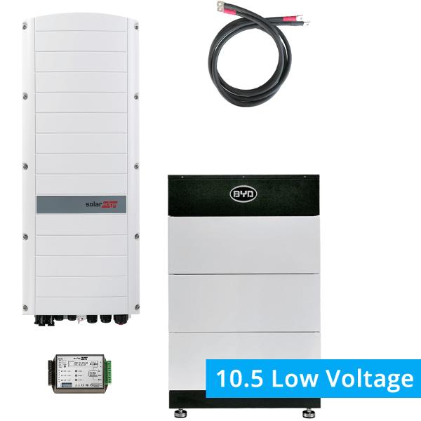 BYD Battery-Box LV 10.5 mit SolarEdge StorEdge Dreiphasen-Wechselrichter SE8K