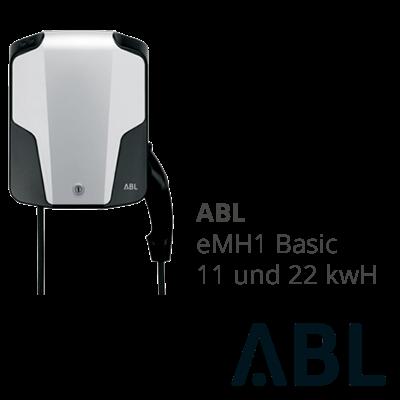 Elektrotankstelle und Wallbox von ABL