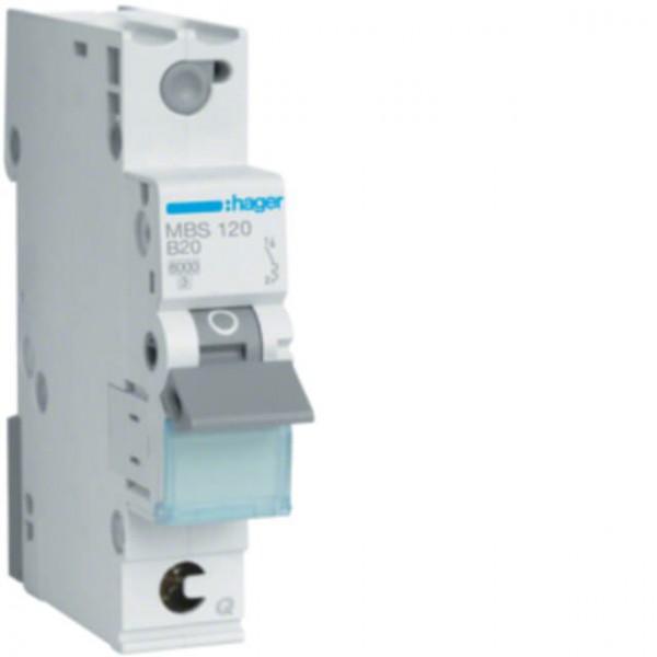 Hager LS-Schalter B20A, 1-pol., 6kA
