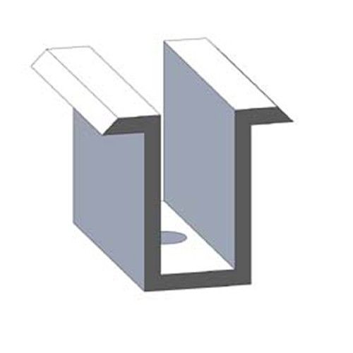 Alumero Mittelklemme schwarz 31-33 vormontiert