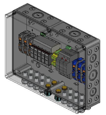 Phoenix Contact overvoltage protection DC, type II, 3 MPP trackers, terminals
