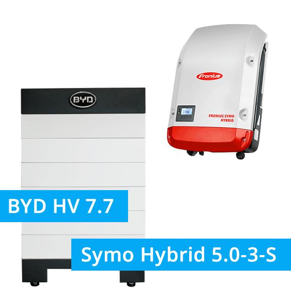 BYD Battery-Box H 7.7 Hochvolt mit Fronius Symo Hybrid 5.0-3-S