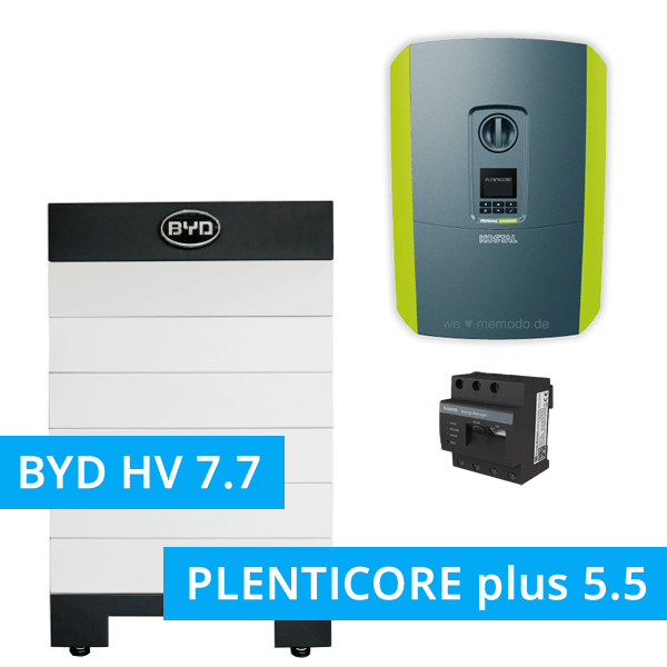 BYD Battery-Box H 7.7 Hochvolt mit KOSTAL Plenticore plus 5.5
