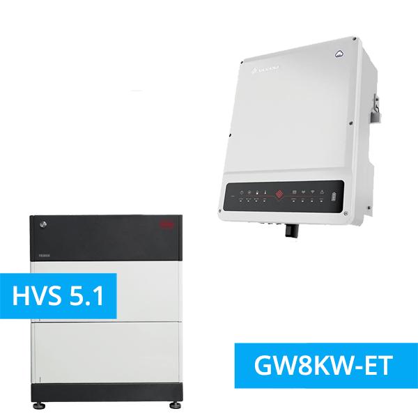 BYD Battery-Box Premium HVS 5.1 Hochvolt mit GoodWe Hybrid HV GW8KW-ET