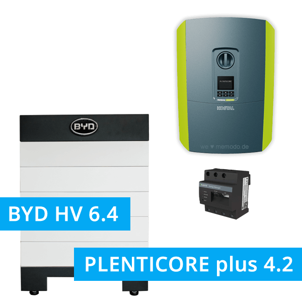 BYD Battery-Box H 6.4 Hochvolt mit KOSTAL Plenticore plus 4.2