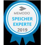 Auszeichnung Speicherexperte 2019 - Memodo Photovoltaik-Grosshandel und PV-Shop