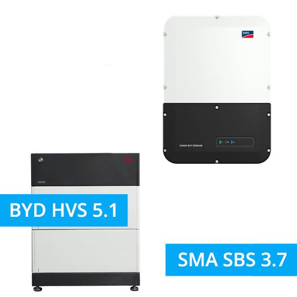 BYD Battery-Box Premium HVS 5.1 mit SMA SBS 3.7